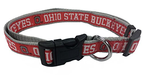 Pets First Collegiate Pet Accessories, Dog Collar, Ohio State Buckeyes, Medium