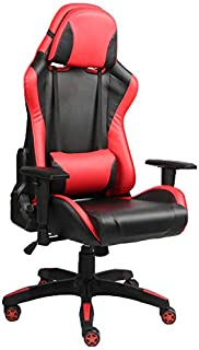 Racoor Video Gaming Chair, Black and Red - H 131 cm x W 69 cm x D 52 cm