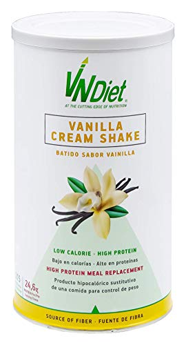 VNDiet - Batido Sustitutivo de Comida para Dieta | Batido para Adelgazar con Proteínas, Reemplazo Comida, Muy Saciante, Bebida Dietética para Adelgazar Rápido, 490gr, Sabor Vainilla