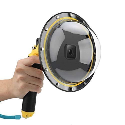 TELESIN Puerto domo para GoPro Hero 8, carcasa impermeable para lente de buceo cubierta transparente con agarre flotante para cámara de acción GoPro Hero 8
