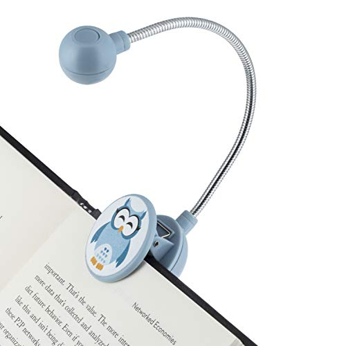 WITHit Disc Leselicht - LED Book Light mit Chrom Hals für Bücher, E-Reader und E-Book Light. Smokey Blue