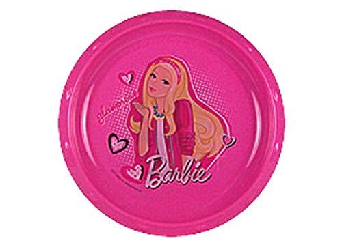 Barbie Plato redondo rosa de 21,5 cm