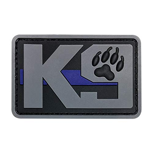 Morton Home 3D PVC K9 Patch Dog Military Morale Patch Tactical Emblem Badges Hook Back Rubber Patches for Clothing Backpack Bags (Gray)