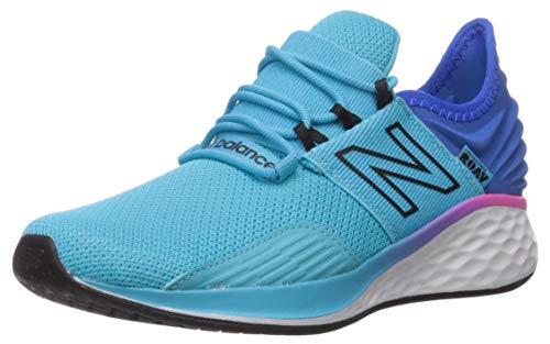 New Balance Kids' Roav V1 Fresh Foam Lace Up Running Shoe, Bayside/Vivid Cobalt, 13 M US Little Kid
