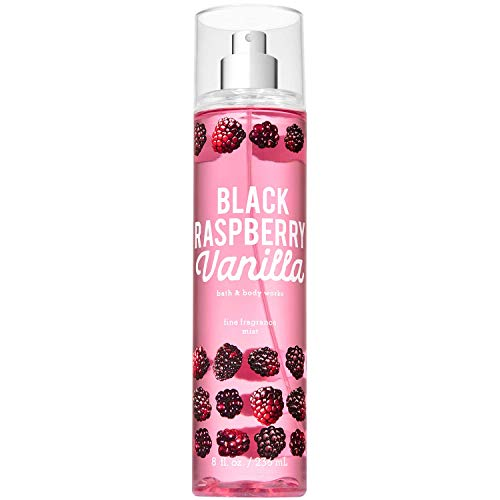 Bath and Body Works BLACK RASPBERRY VANILLA Fine Fragrance Mist 8 Fluid Ounce (2019 Edition)