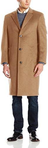 Hart Schaffner Marx Men's Spencer Cashmere-Blend Top Coat