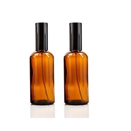 Flaconi spray, con nebulizzatore fine, riutilizzabili, per cosmetici, profumi, colore ambra, in vetro, 100 ml, confezione da 2 pezzi