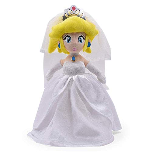 DINGX Super Mario Odyssey Brautkleid Prinzessin Pfirsich Weiche Plüsch Spielzeug 33 cm Baby Mädchen Geschenk Kreative Nette Baby Plüsch Home Decoration Chuangze