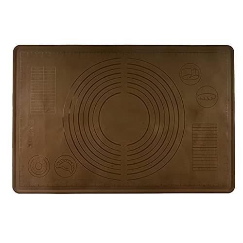 WGDPMGM Alfombrilla para Hornear 65 x 55cm Espesado Rolling Pasta de Masa Antiadherente Silicona Silicona Matera horneada Hogar Sin Paleta Matera Horneado (Color : Brown)