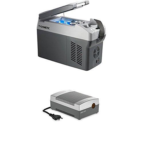 Dometic Waeco CoolFreeze CDF 11 - tragbare elektrische Kompressor-Kühlbox/Gefrierbox mit Batteriewächter, 10,5 Liter, 12/24 V für Auto, Lkw oder Boot + CoolPower EPS817 Netzadapter, 230 V 12 V