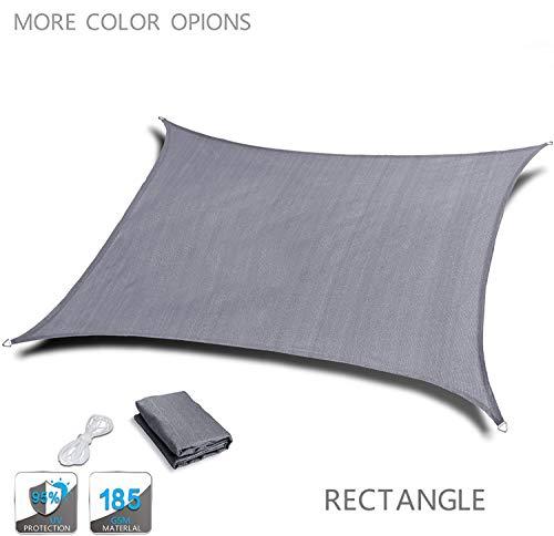 HYISHION Cool Area Voile d'ombrage rectangulaire Une Protection des Rayons UV, résistant et Respirant,Rectangular Gray,4 * 5m