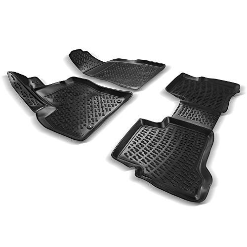 RE&AR Tuning Alfombrillas de coche para Peugeot Bipper 2008-2021, alfombrillas de goma inodoras, color negro, protección contra la suciedad y el barro, impermeables, específicas para vehículos