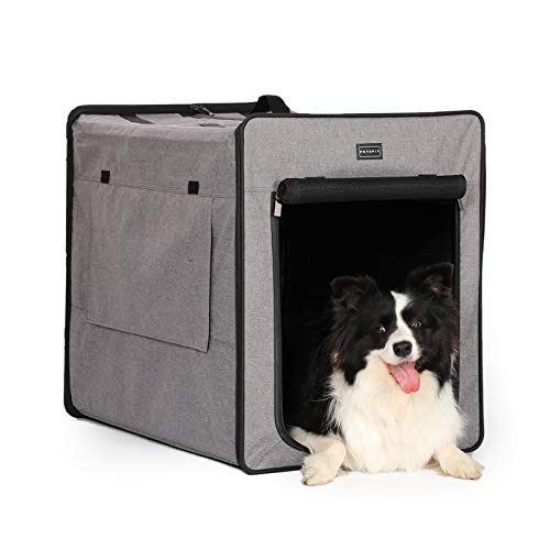 Petsfit faltbar Hundebox Hund Katze Auto Transportbox Katzenbox Weiche Haustierbett mit Fleece Matte