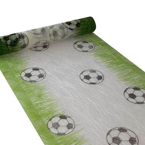 Sizoflor chemin de table - football - blanc/vert - rouleau de 30 cm x 5 m - 76-300-5