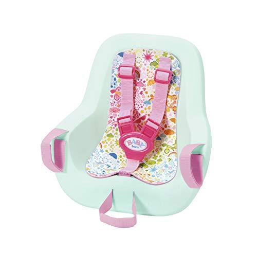 Zapf Creation 827277 BABY born Play & Fun Fahrradsitz mit Gurtsystem, schnell und leicht anzubringen, Puppenzubehör 43cm, rosa/mint