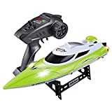 Tounlinx RC Boats High Speed(21.7MPH+) Electronic Remote Control Boat Lakes Pool Race Toys for Adults & Kids
