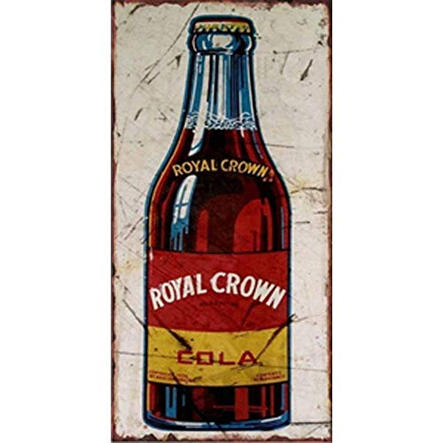 NNGT Royal Crown Cola for Bar Area Decor Poster for Kitchen Decorations Retro Style Wall Poster Art Print Wall Decor Metal TIN Sign 20X30 CM