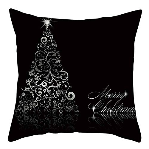 AMhomely Christmas Decorations Sale Christmas Cotton Linen Throw Pillow Case Cushion Cover Home Sofa DecorXmas Decor Outdoor Baubles Gifts For Kids Adults UK