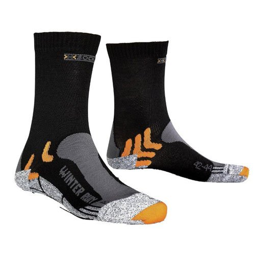 Sidas Run Winter Chaussettes Homme Noir FR : 39-41 (Taille Fabricant : 2)
