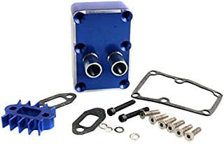 Toyoutdoorparts RC Car Engine Exhaust Radiating kit Fit HPI Baja 5b 5t 5sc Losi 5IVE-T Upgrade (Navy Blue)