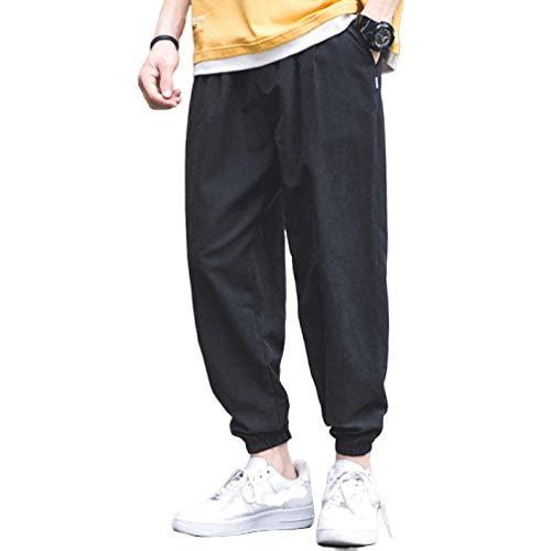 Katenyl Pantalones de chándal relajados de Gran tamaño con pies de Haz para Hombre, Ropa de Calle, Tendencia, Cintura elástica, Pantalones Cargo clásicos básicos, Casuales 5XL