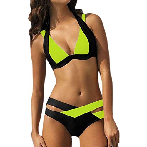 TOFOTL Vintage Hose Damen Bikinis Bikini d Cup weißer schwarz 85d Oberteil Plus Shop bhtriangle Push up Bikini Damen 85f Tierdruck high-Waist Bikinis Retro wrap Sale online