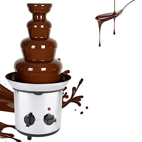 Chocolate Fondue Fountain, 4 Tiers Electric Chocolate Melting Machine Fondue Pot Chocolate Fountain Maker US Plug 110V