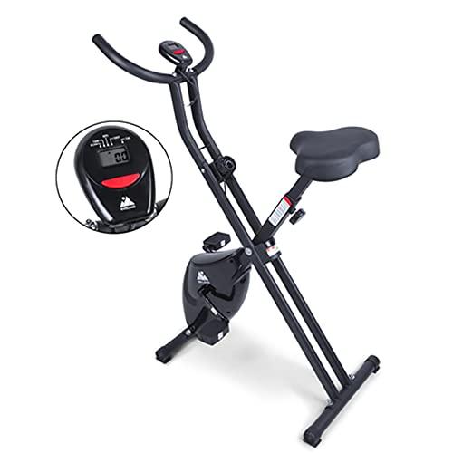 himaly, cyclette da fitness con display LCD e resistenza magnetica regolabile a 8 livelli, pieghevole per uso domestico