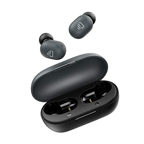 Dudios True Wireless Earbuds, Bluetooth 5.0 Free Mini Earphone with 7.2mm Enhanced Drivers(Smart Touch, Easy-Pair, Built-in Mic, 15 Hours Playtime) (Black)