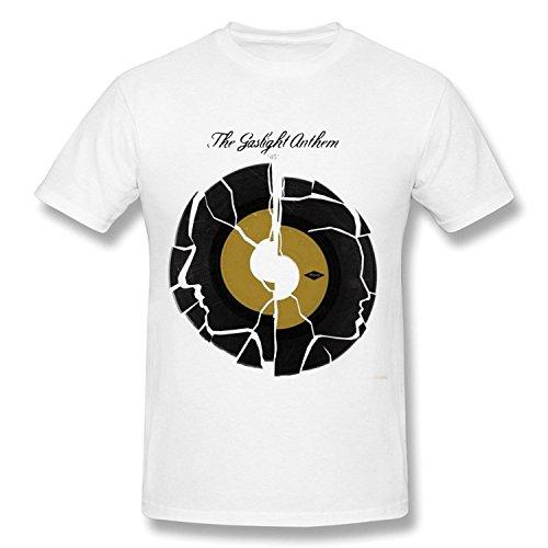 Short Sleeve Herren's The Gaslight Anthem T-Shirts Wei? Medium