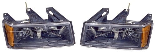 Chevy Colorado/GMC Canyon Replacement Headlight Assembly (Black Bezel) - 1-Pair by AutoLightsBulbs