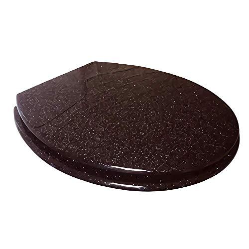 toilet lid Bisagras de Acero Inoxidable Ajustables de Cierre Lento Suave de Resina antibacteriana de liberación rápida para fijación Superior/Inferior en Forma de U/V/O
