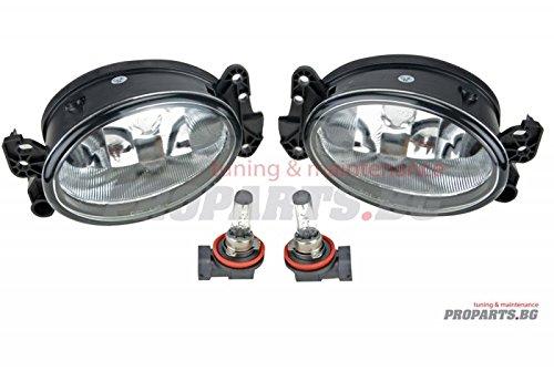 Proparts PROW211STFOG Set de verres transparents avec ampoules H11
