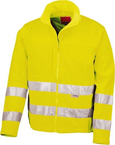 Résultat R117 a Core High-viz Softshell pour Homme Large Flu Yellow