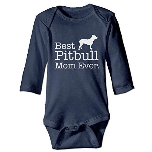 U are Friends bébé Pitbull Maman jamais Nouveau-né Gilr's Boy Enfants bébé Barboteuse bébé à Manches Longues pour Tout-Petit(18M,Marine)