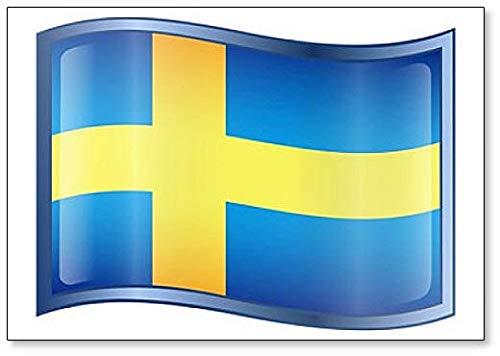 Kühlschrankmagnet, Motiv: Schweden Flagge