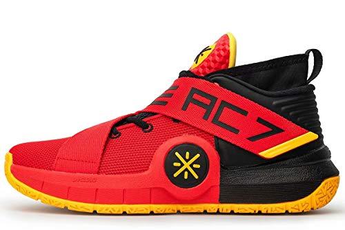 LI-NING All City 7 Wade Men Cushioning Basketball Shoes Lining Anti-Slip Professional Shock Absorption Sneakers Sports Shoes Black Red ABAN047-21 US 10