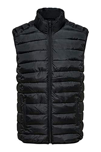 Only & Sons Smanicato Uomo Liner Puff Gilet Exp Re 22011535 l Blue Scuro
