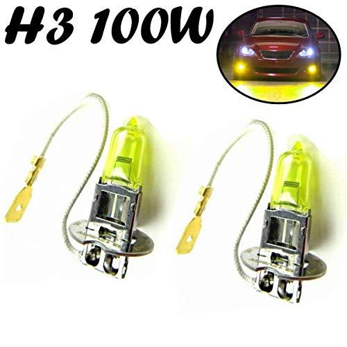 2x Jurmann H3 100W 12V PK22s Aqua Vision Gelb Yellow Scheinwerfer Ersatz Halogen Lampe - Off-Road