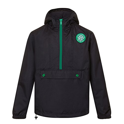 Celtic FC Official Soccer Gift Mens Half Zip Shower Jacket Windbreaker XL