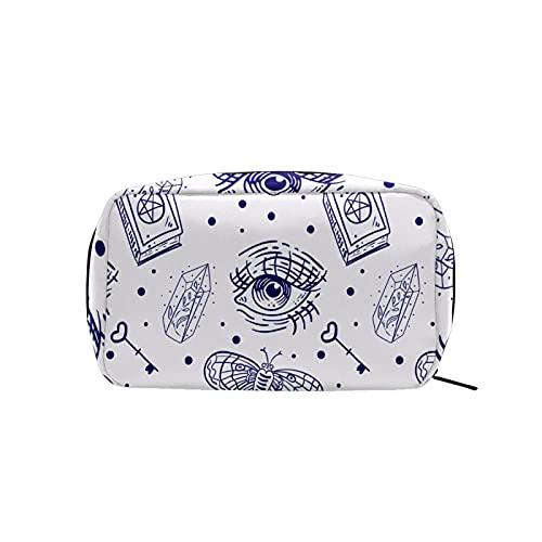 Make-up-Tasche mit Reißverschluss, magisches Buch mit mystischen Augen, Kosmetiktasche für Damen, Reise-Kulturbeutel, Zubehör, Damen-Geldbörse, großer Kosmetik-Organizer