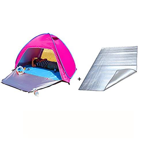 SMSJ-YJ Strand-Zelt Pop Up im Freien Sonnensegel Tragbare UV Sun Beach Zelt Summer Sun Shelter UPF 50