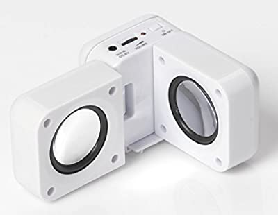 Portable Folding Speakers for MP3 Players and iPod - White (does not charge mp3 player/ipod) by Ultimate Products CE