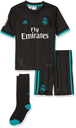 adidas Real Madrid Ensemble Saison 2017/2018 pour Enfants, B31094, Multicolore - Noir (Negro/Arraer), 164