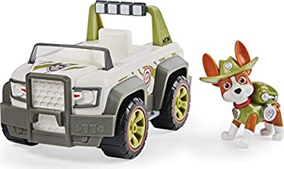 PAW Patrol Tracker's Jungle Cruiser Vehicle with Collectible Figure, for Kids Aged 3 and Up from Spin Master