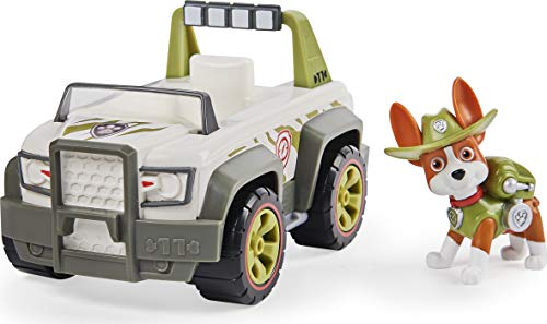 PAW PATROL 6059511 Tracker's Jungle Cruiser Vehicle with Collectible Figure, for Kids Aged 3 And Up