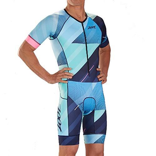 Zoot Men Triathlon Racesuit M LTD Tri Aero SS Race Suit - Cali 19