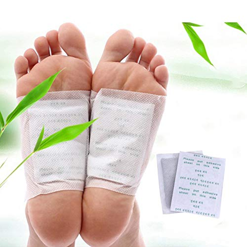 100PCS Detox Foot Pads Patch Detoxify Toxins Adhesive Keeping Fit Health Care Patches Detoxify Toxins Fit Feet Slimming Cleansing Herbal