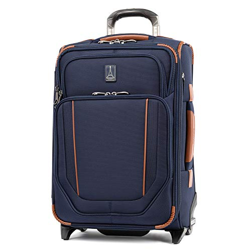 Travelpro Crew Versapack-Softside Expandable Upright Luggage, Patriot Blue, Carry-On 19-Inch