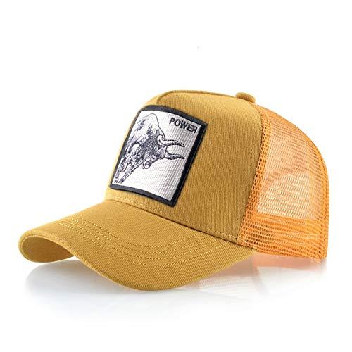 8 Tipos deGorras de béisbol para Hombres Gorras Snapback de Malla Transpirable Unisex Sombrero para el Sol para Mujeres Casquette Hip Hop-Power YW